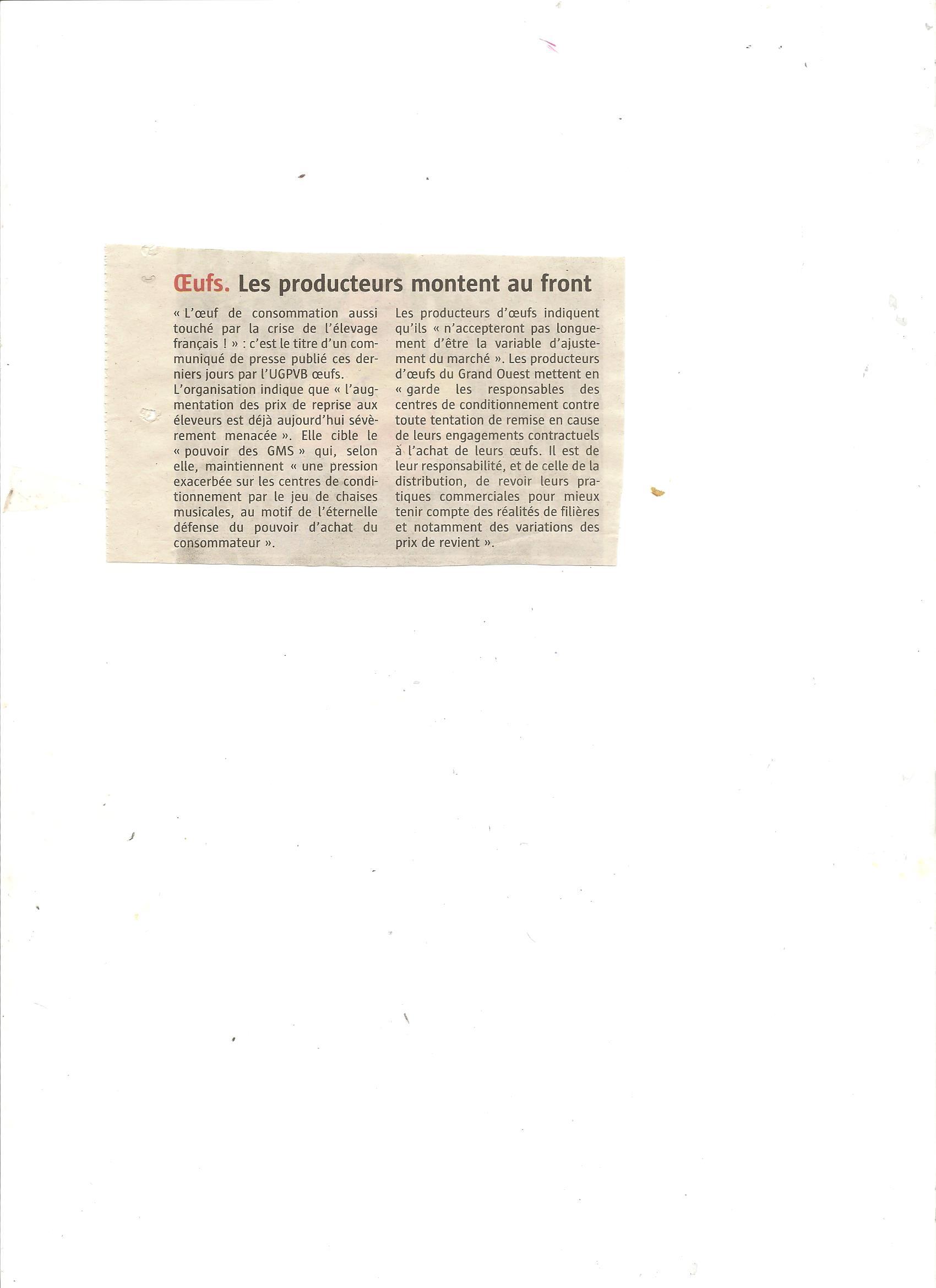 Article Télégramme du 09/09/15