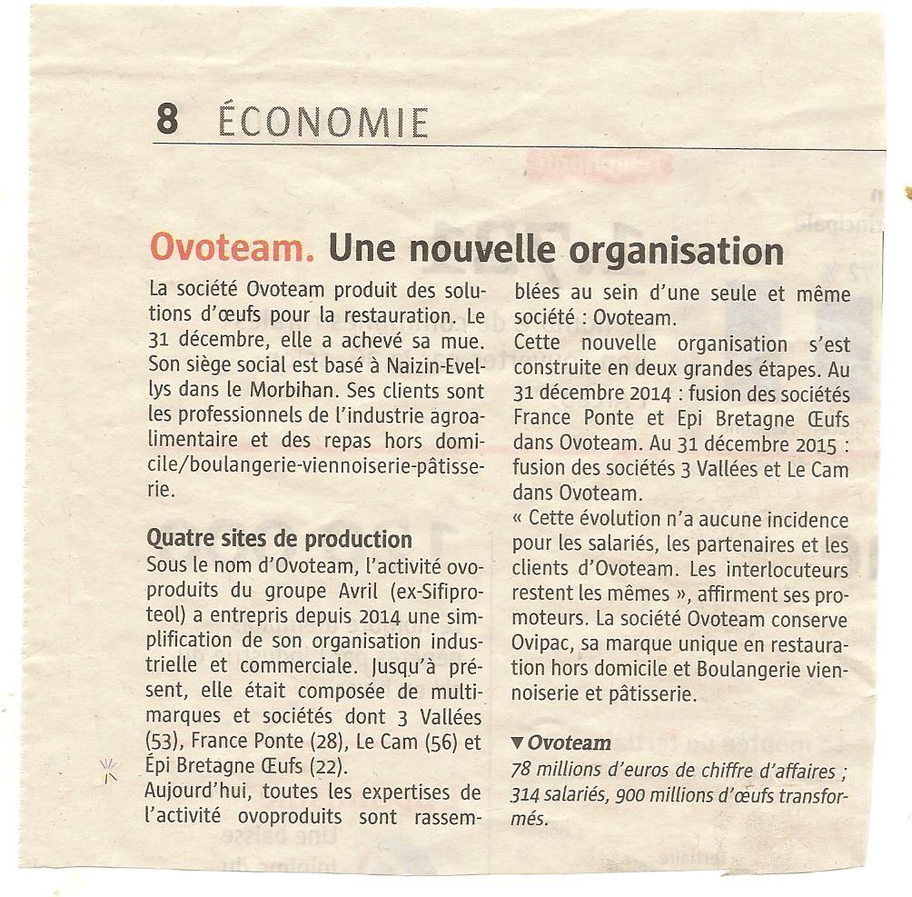 Article Télégramme 24/02/16
